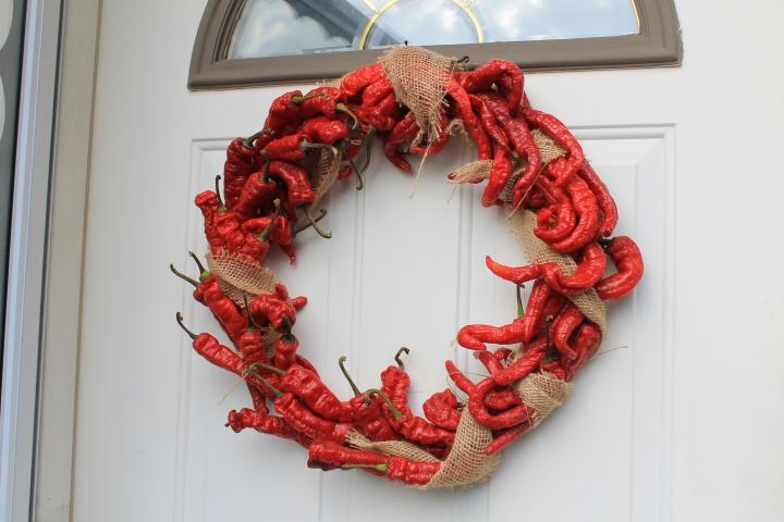hot pepper wreath