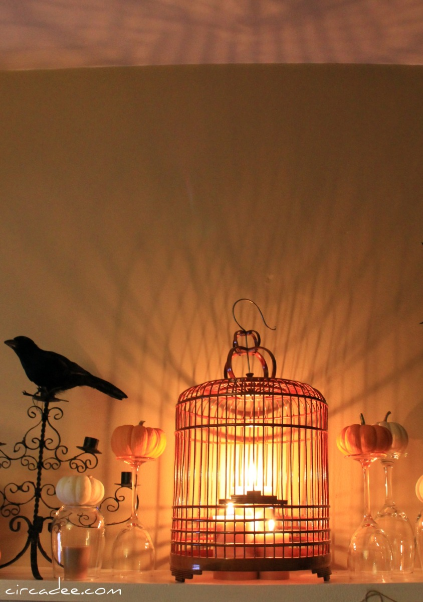 birdcage + candles = spooky shadows