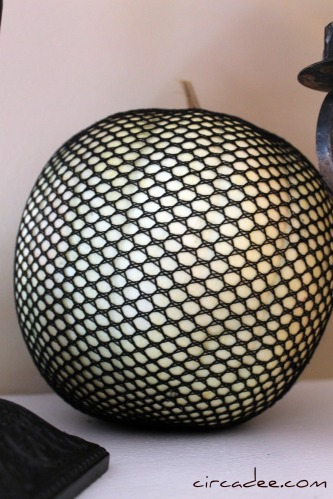 fishnet stocking pumpkin