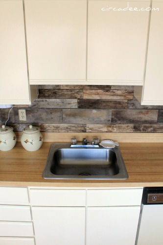 Remodelaholic How To Install A Pallet Wood Back Splash
