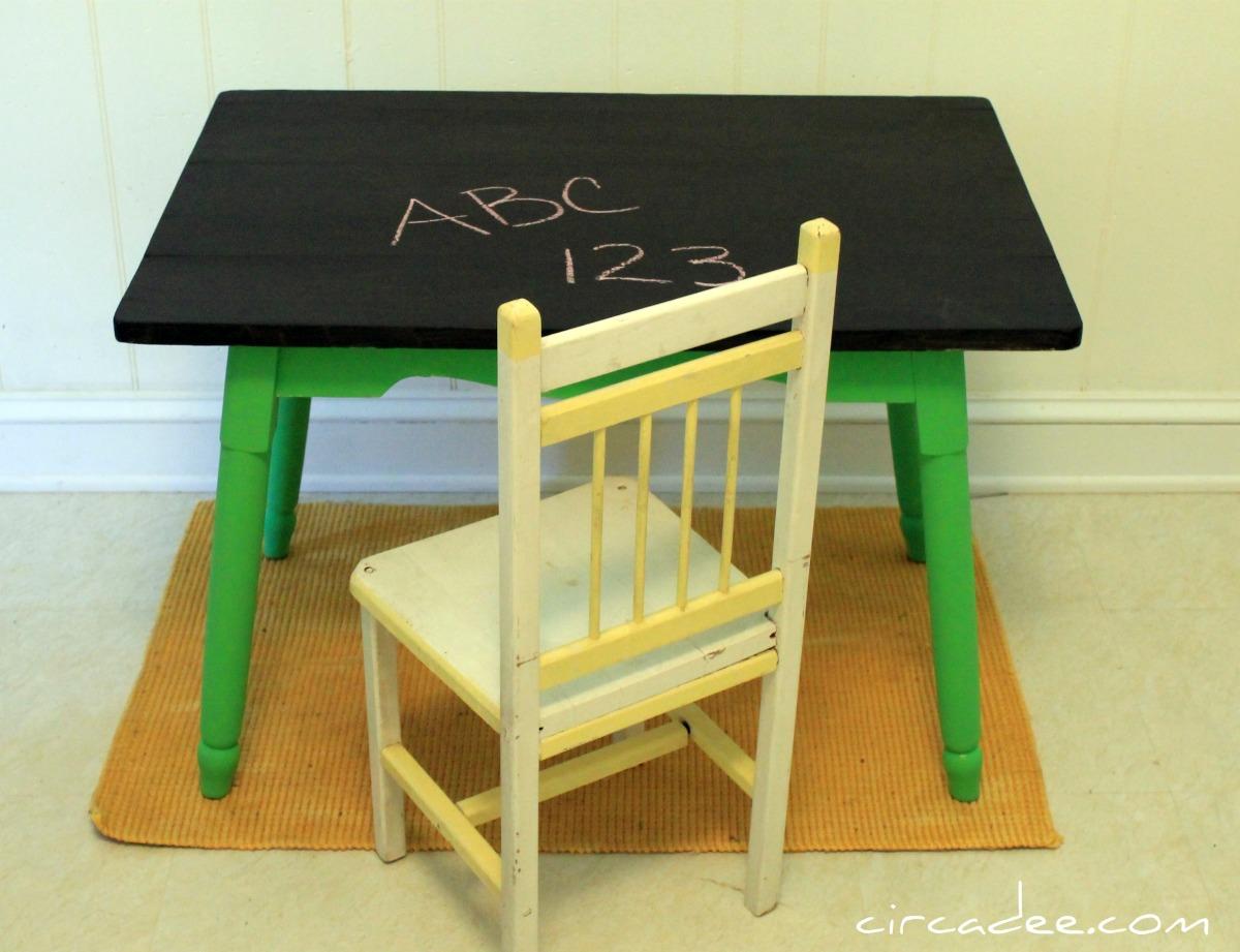 Chalkboard Kid's Table
