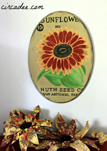 vintage sunflower seed pack reproduction sign