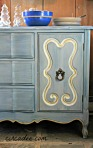 Abusson Blue, Shutter Gray, Ironstone, Egyptian Gold - French sideboard