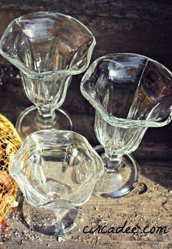 vintage ice cream sundae glasses