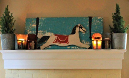 rocking horse mantel