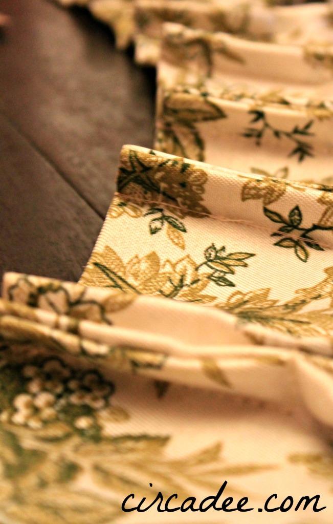 drapery pleats