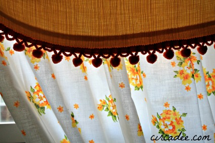vintage window treatment