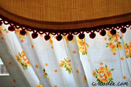 vintage window treatment
