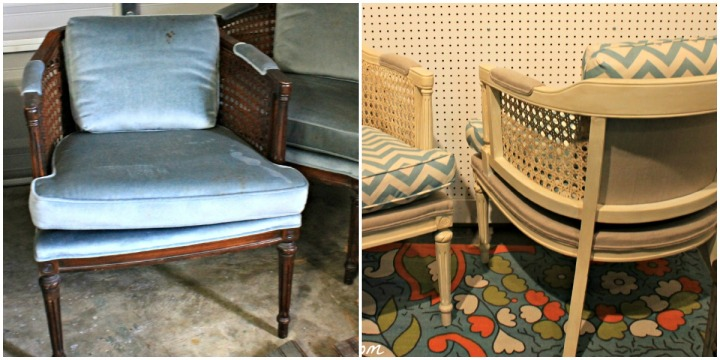 Barrel Back Chair Before & After