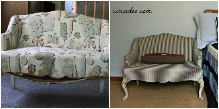 Before & After French Settee