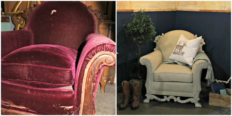 Before & After Club Chair