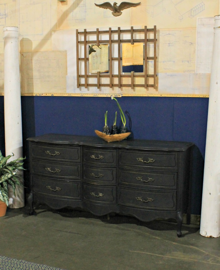 Home Show - Milk painted dresser and trellis mirror