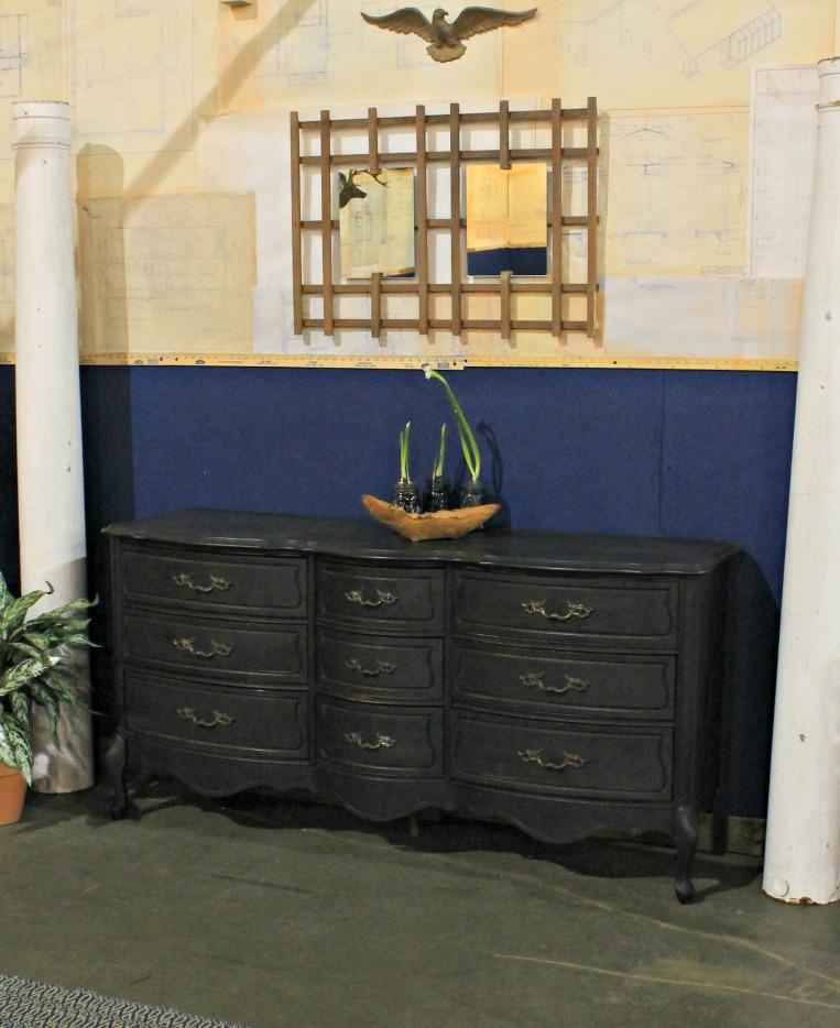 Home Show - Milk painted dresser and trellis mirror