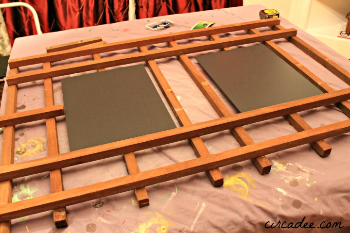 how to make a garden trellis mirror