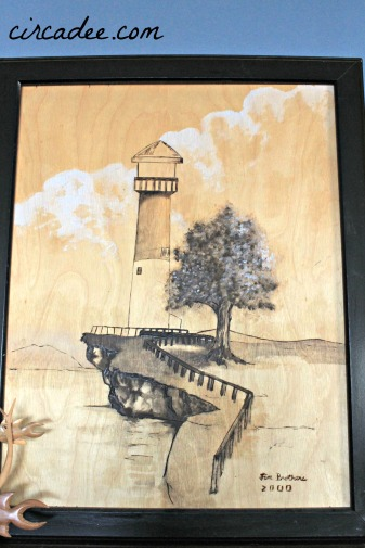 lighthouse woodburning