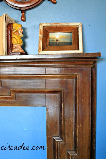 art deco coastal mantel