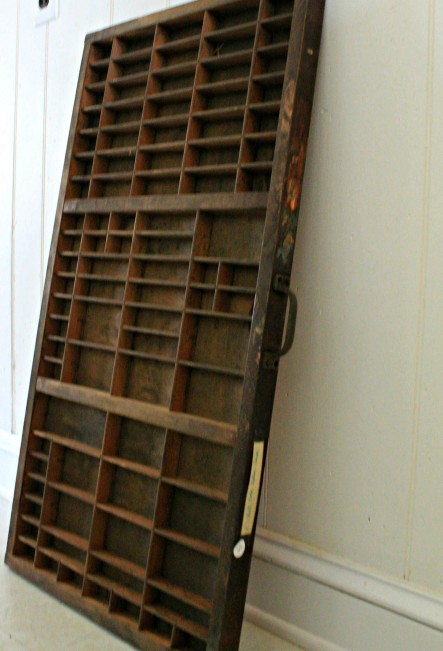 vintage printing type set drawer