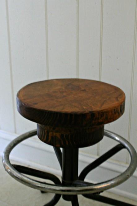 repurposed oak stool