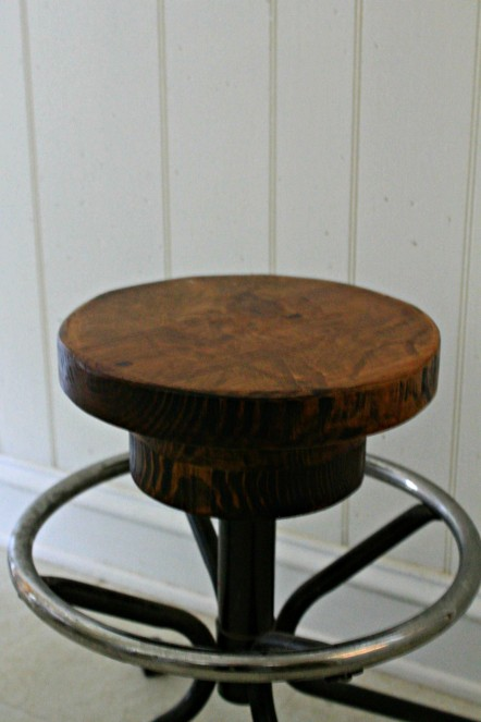 repurposed oak stool