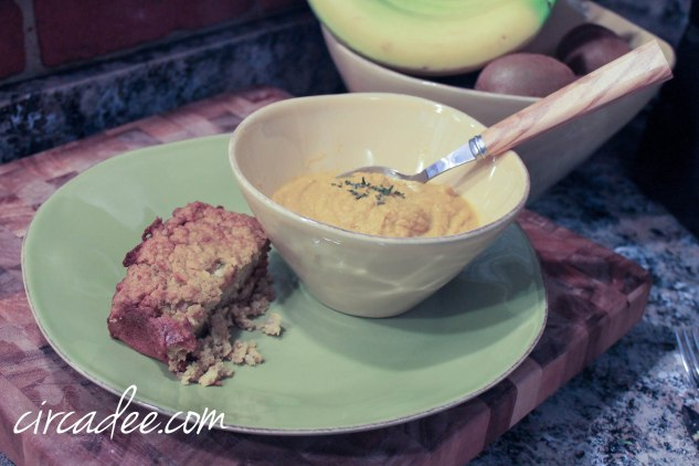 chick pea loaf & carrot soup