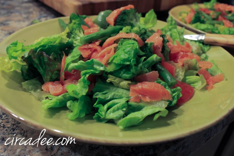 smoked salmon salad