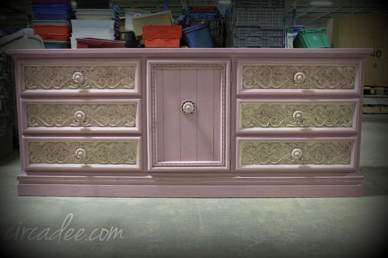 pink sideboard