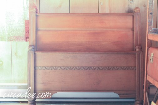 antique oak twin bed - pair available