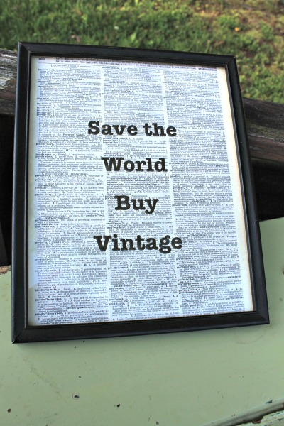 save the world buy vintage