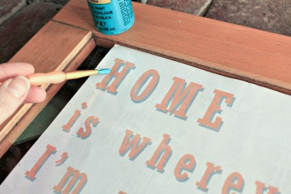 repurposed window  song lyric DIY