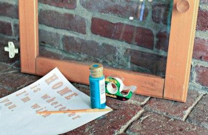 repurposed window  song lyric DIY