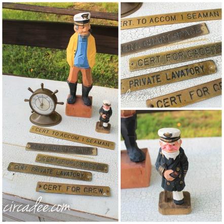 vintage ship plaques & captains