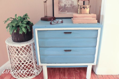 french enamel & grainsack milk paint retro chest