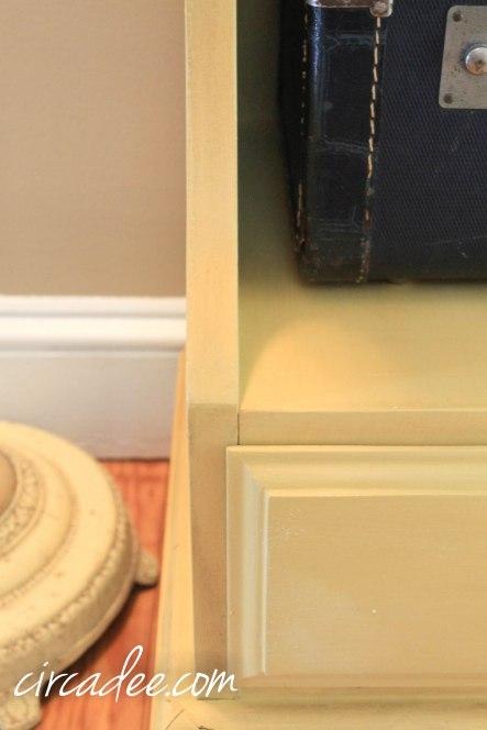 mustard seed yellow milk paint nightstand palm springs vintage