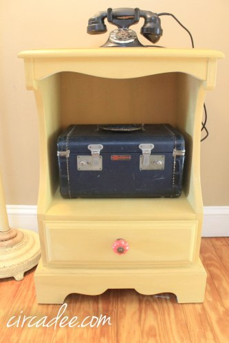 mustard seed yellow milk paint nightstand with furniture wax
