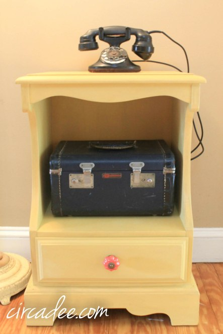 mustard seed yellow milk paint nightstand palm springs vintage