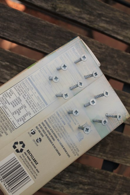 poke screws in box to quickly change the color with spray paint