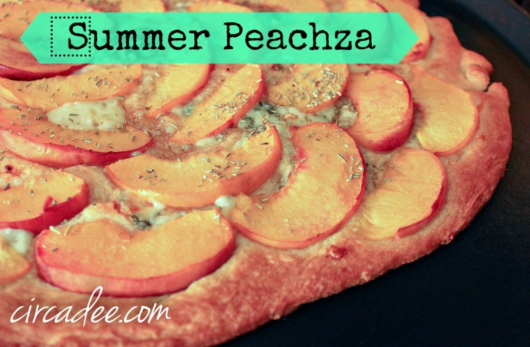 delicious seasonal peach fruit pizza - peachza recipe