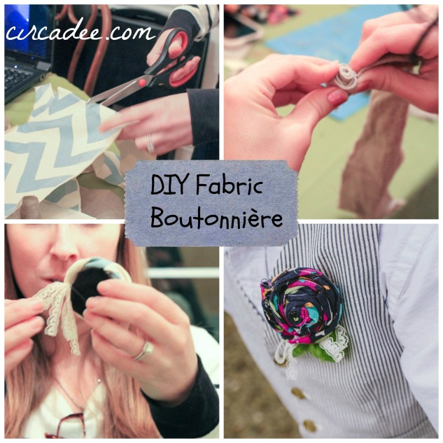 DIY Fabric Boutonniere