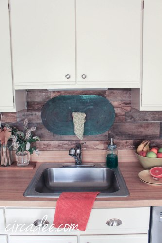 Pallet Wood Backsplash