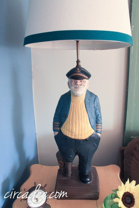vintage ship captain lamp