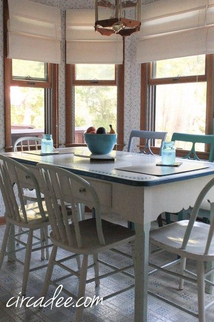 1940s enamel top table