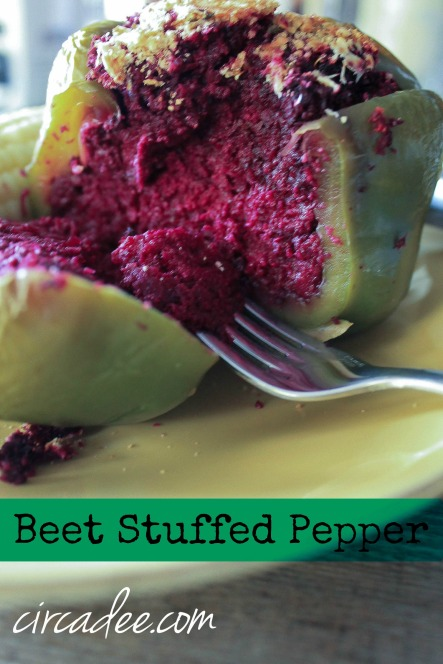 Beet Stuffed Pepper