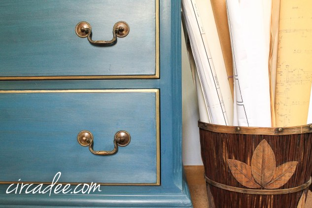 flow blue dresser white wax gilded dresser