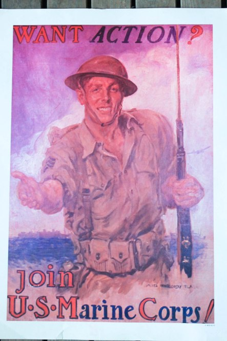 USMC vintage recruiting posters (1 of 2)