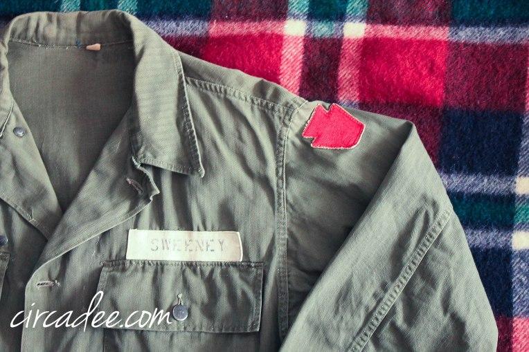 vintage army jacket