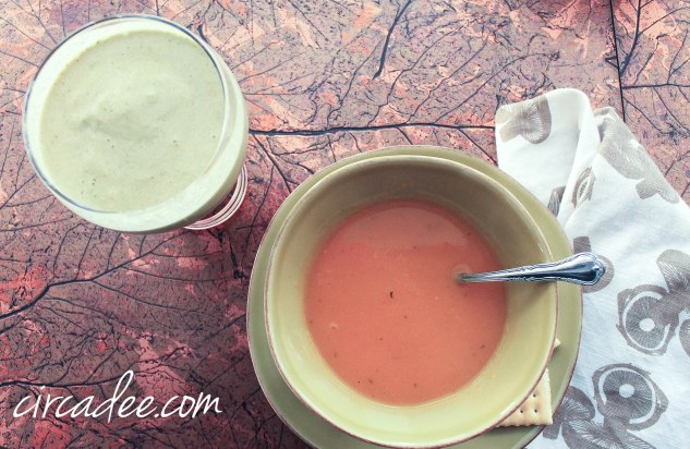 java green smoothie and apple butternut squash soup