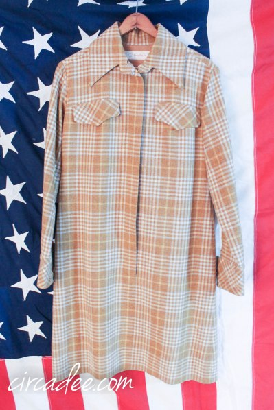 vintage Pendleton plaid dress