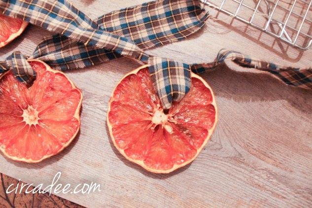 DIY Dried Citrus Garland