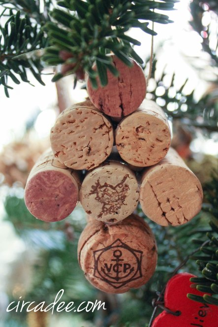 wine cork tree ornament