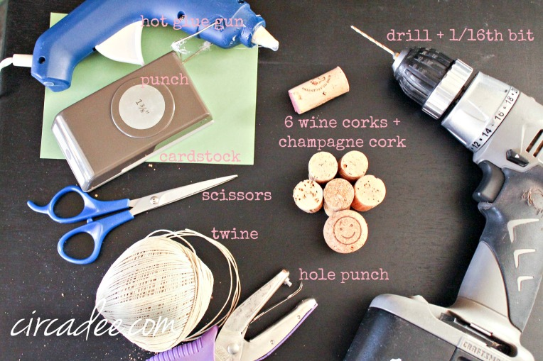 wine cork tree ornament supplies